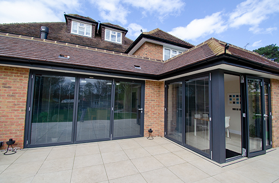 Bifold Doors in Rear Extension
