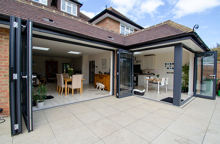 Folding glass doors Ashtead
