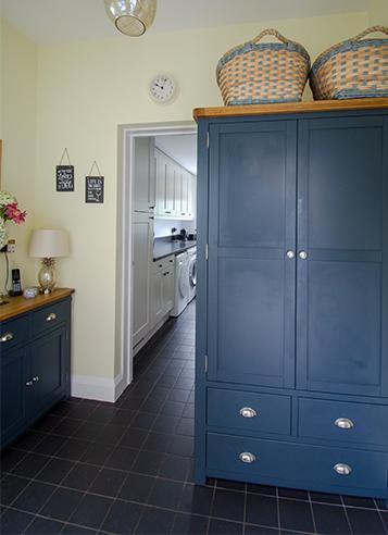 Tiled Hallway and Kitchen Floor